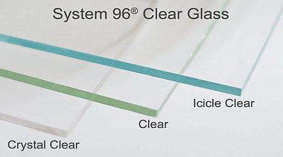 "12x12"" DOUBLE THICK CRYSTAL CLEAR 100  5mm SPECTRUM System 96 COE Fusing Glass Sheet"
