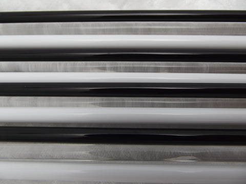 BLACK WHITE & CLEAR Glass Pack Moretti Effetre 104 COE 12 Double Length Rods