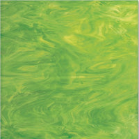 826.71F Lime Green White Wispy 12 x 12 Inch Spectrum System 96 Sheet Glass 3mm