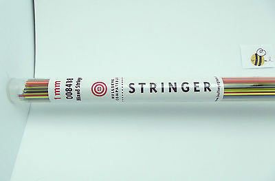 BULLSEYE Stringer 1mm MIXED 8418 90 COE Kiln Torch Fuse FULL TUBE