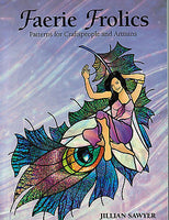 FAERIE FROLICS Stained Glass Pattern Book SAWYER Quilting Mosaics Inspiration