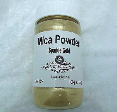 Mica Powder SPARKLE GOLD Fusing Flameworking Craft 100g Pixi Dust