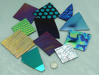 DICHROIC GLASS 8oz  Mix Color Texture Black 96 COE $52 SCRAP Great Mix  Patterns