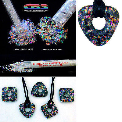 Fine Dichroic GLASS FRIT FLAKES System 96 COE CBS Rainbow Clear Sandberg $5.95 Shipping Special