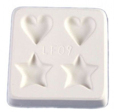 HEARTS & STARS Little Fritters Glass Frit Casting Mold Pendants Key Chains