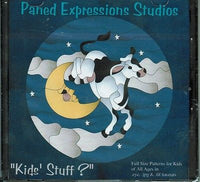 KIDS' STUFF Paned Expressions PATTERN Book on CD Stained Glass