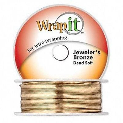 TRUE GOLD COLOR WRAPPING WIRE Jeweler's BRONZE DEAD SOFT 130 feet 22GA