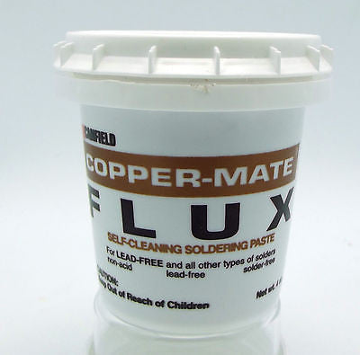 4 oz  COPPER-MATE PASTE FLUX Canfield Stained Glass  Soldered Art Pendant Craft