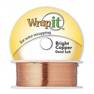 Best Seller Wrap It!  WRAPPING WIRE BRIGHT COPPER DEAD SOFT 20 GA 80 feet ROUND