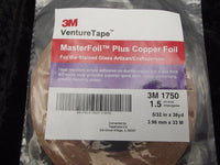 "VENTURE TAPE 1.5 mil Copper Foil 5/32"" Stained Glass Supply 1750 532"
