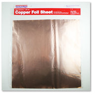 "12x12"" COPPER SHEET 1.25 mil Self Adhesive Venture Tape Stained Glass Supplies"