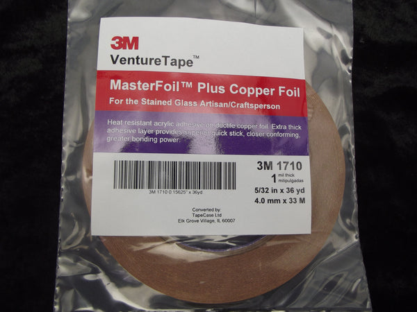 "VENTURE TAPE 1 mil Copper Foil 5/32"" for Stained Glass Supply 36 Yards 1710 532"