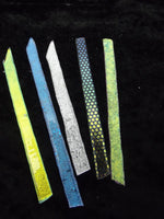 104 COE Dichroic Strips Pre-Fired Effetre Glass Lampworking CLEAR Thin Dichro
