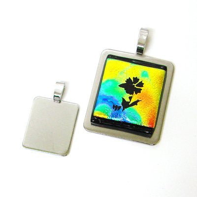 10 Aanraku PENDANT PLATES Large Display Fused Dichroic! Luggage Tags Glue-on