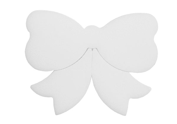 "96 COE Precut Glass Shape Cluster White Opaque Bow 2 1/4"" x 1 13/16"" Fusing or Mosaics"