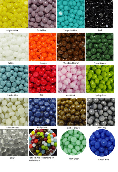 "1/4"" 90 COE Little Colorado River Rock Gems Circles Blobs Polka-dots Package of 50 Pieces"