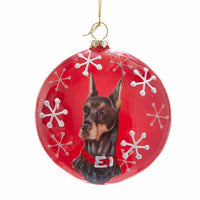 26 DOG BREEDS Choice Glass Christmas Hat Scarf Ornament Kurt Adler Memorial Gift