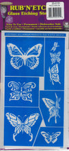 Choose Your Style Armour Rub n Etch Glass Etching Stencils Easy One Time Use