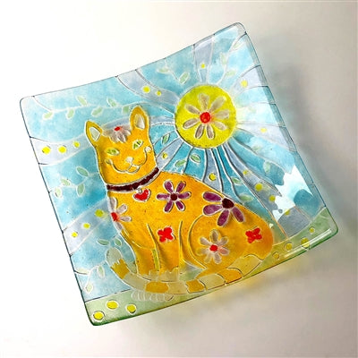 "Cat Texture Plate Tile 10"" Glass Fusing Mold Creative Paradise DT40 Supplies"