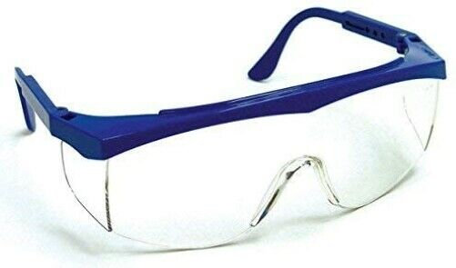 Safety Glasses Blue Frame Stained Glass Supplies Cutting Side Shield Fusing