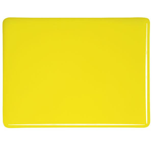 "0120 Canary Yellow Striker Opalescent Bullseye 90 COE Glass Sheet 10x10"" 90COE Fusible"