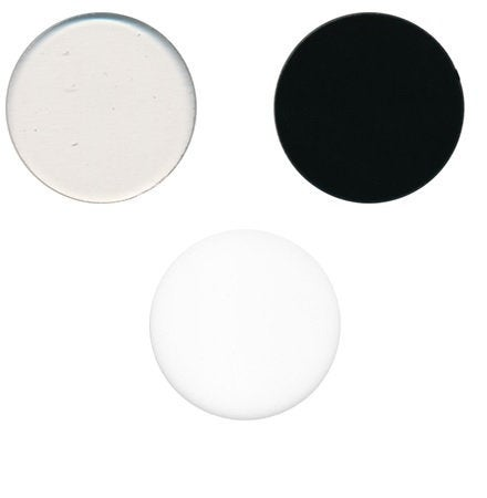 "2"" 96 COE Precut CIRCLE Choice of Color and Transparency 3mm Thick Glass White Clear Black"