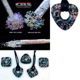 Dichroic Frit Flakes 96 COE Sample Pack 7 1/4 oz Tubes Glass Rainbow Green Red +