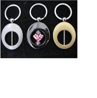 Superior Quality OVAL BEADABLE Key Ring Chain GOLD Silver BLACK Pearl Finishes