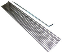 "VALUE PACK! FIREWORKS Beadmaking 12 3/32"" Stainless Mandrels + Rake SET"