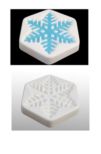 """December 2017"" Colour de Verre SNOWFLAKE Ceramic Reusuable Fusing Mold Casting"