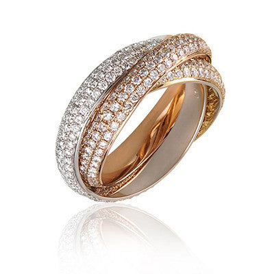 Three Tone Gold Wedding Bands