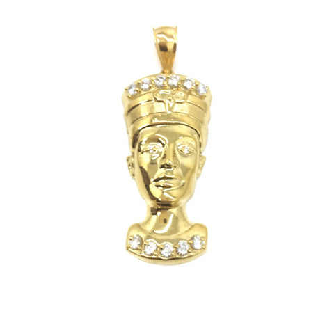 Buy Latest Gold Pendant | Anum An Egyptian Queen Head 10K Yellow Gold Pendant