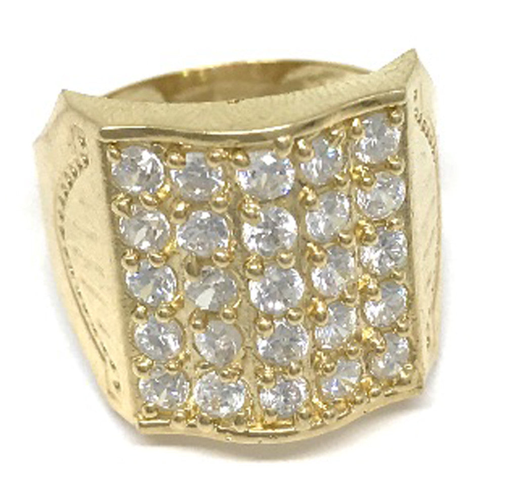 Cz 10k Solid Yellow Gold 4.5 Grams Ring for Men