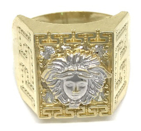 Beautiful Solid Gold Medusa Head 10K Yellow 6.3 Grams Ring for Men