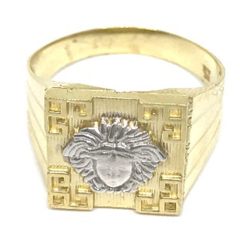 Beautiful Solid Gold Medusa Head 10K Yellow 3.3 Grams Ring for Men