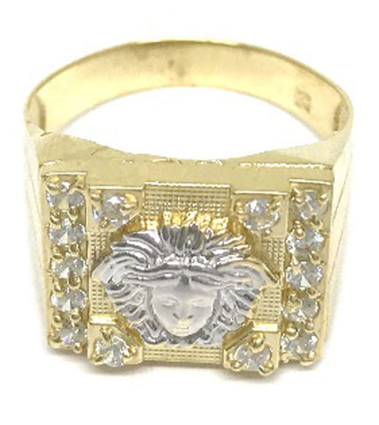 Beautiful Solid Gold Medusa Head 10K Yellow 3.7 Grams Ring for Men