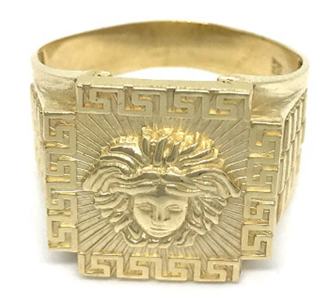 Beautiful Solid Gold Medusa Head 10K Yellow Gold 5.9 Grams Ring for Men - Solid Gold Online