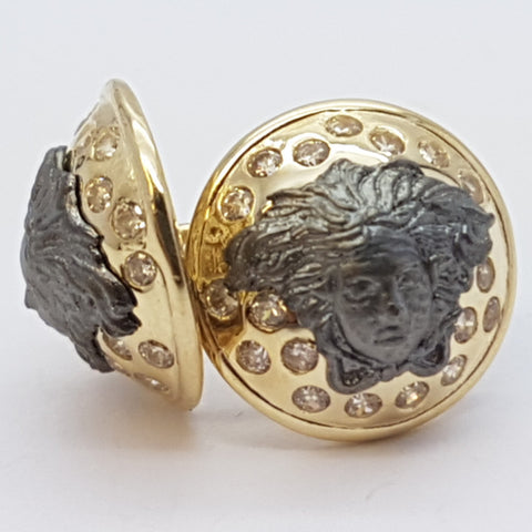 10K Yellow Alectrona Gold Earrings - Solid Gold Online