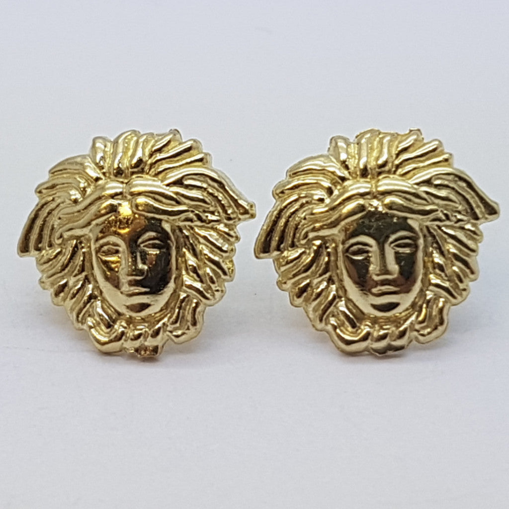 10K Yellow Aphaea Gold Earrings - Solid Gold Online