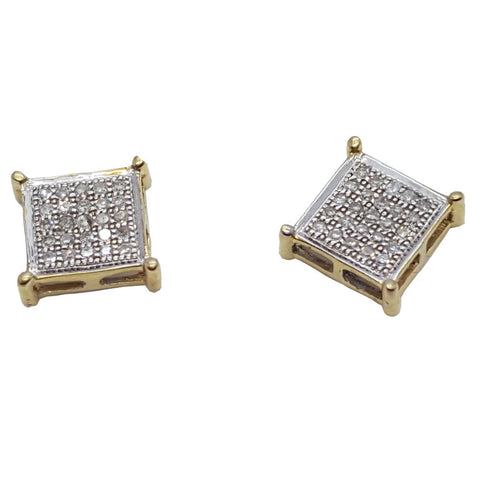 10K Yellow Baden 0.15 Diamond Gold Earring