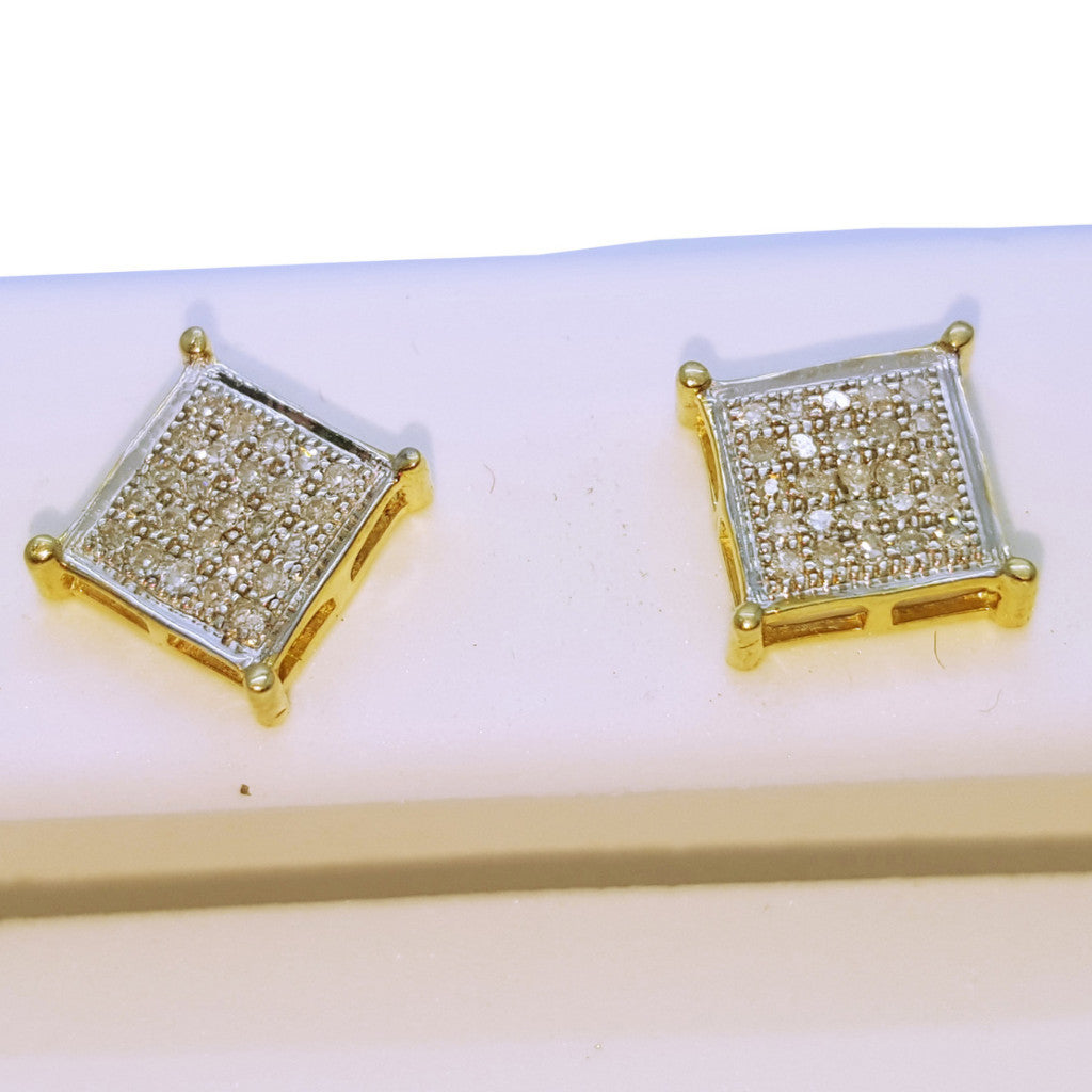 10K Yellow Bludenz 0.05 Diamond Gold Earring - Solid Gold Online