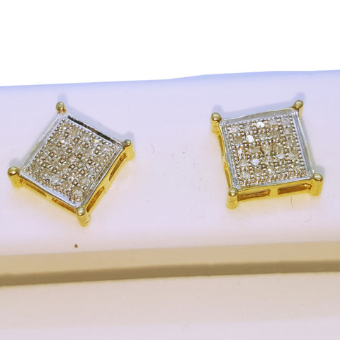 10K Yellow Bludenz 0.05 Diamond Gold Earring