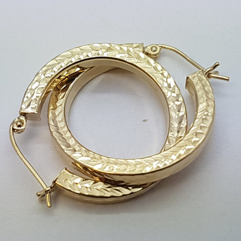 10K Yellow Celeano Gold Earrings - Solid Gold Online