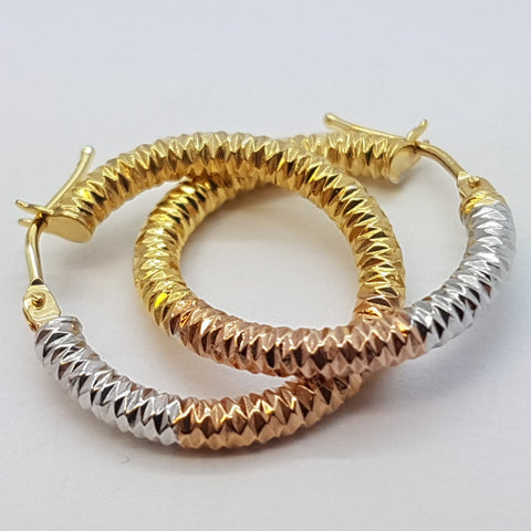 10K Yellow Ceto Gold Earrings