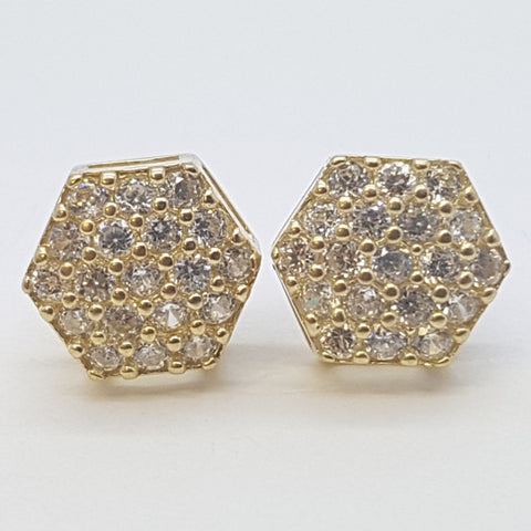 10K Yellow Cirse Gold Earrings