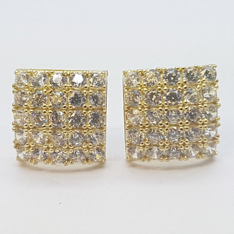 10K Yellow Clio Gold Earrings - Solid Gold Online