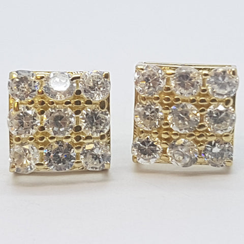 10K Yellow Cybele Gold Earrings - Solid Gold Online