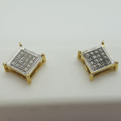10K Yellow Dornbirn 0.1 Diamond Gold Earrings - Solid Gold Online