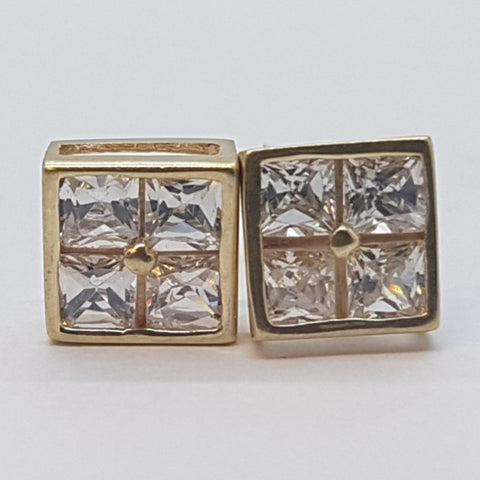 10K Yellow Elpis Gold Earrings