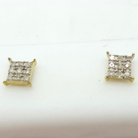 10K Yellow Enns 0.1 Diamond Gold Earrings - Solid Gold Online